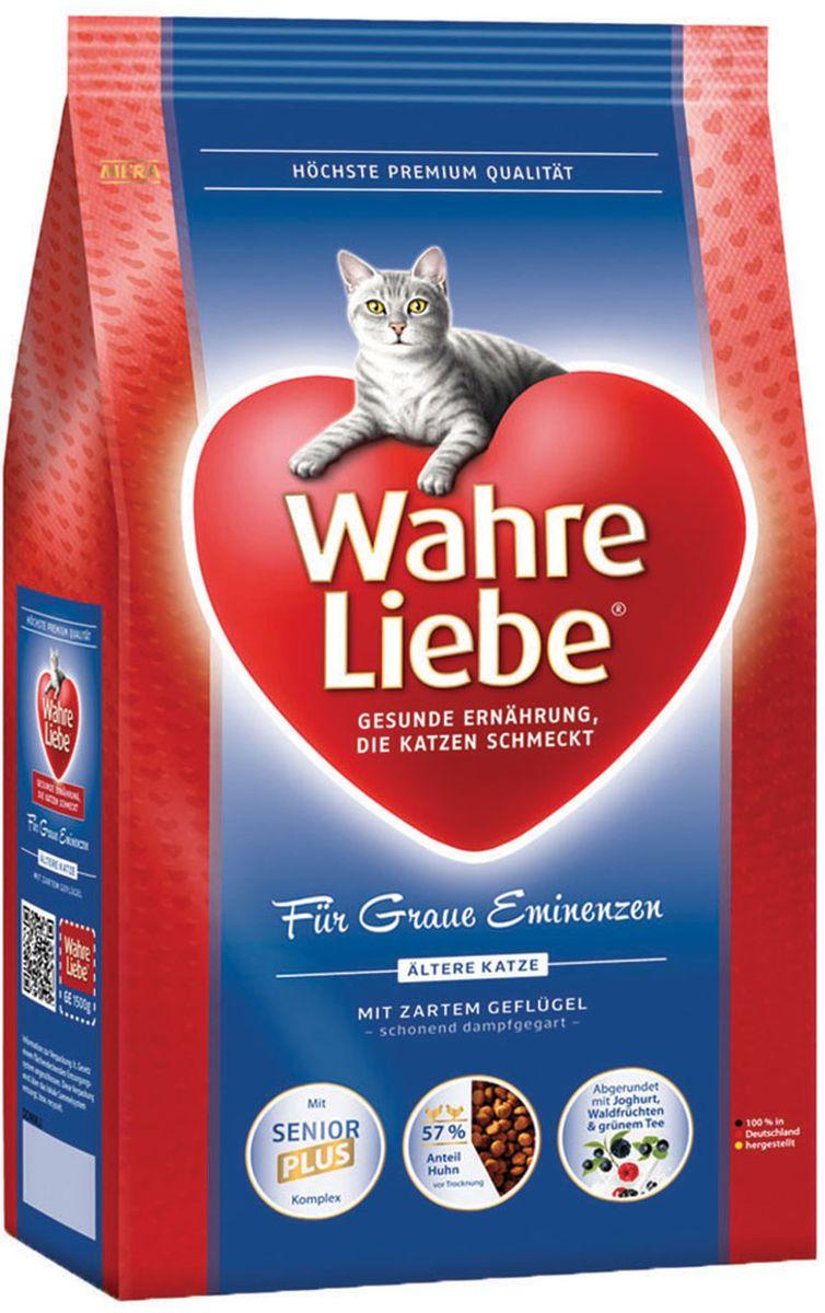 Корм сухой Wahre Liebe Altere, для пожилых кошек, 1,5 кг0120710Wahre Liebe - это корм, произведенный в Германии, он обладает превосходным вкусом и ароматом, которые не оставят равнодушной даже самую привередливую кошку. Ведущий ветеринарный врач завода Mera учел все потребности организма кошки, разработал идеальную формулу корма и назвал ее - Wahre Liebe, что в переводе с немецкого Истинная любовь.Wahre Liebe - не только подарит любовь и заботу питомцу, но и обеспечит его здоровьем и долголетием на всю жизнь.Корм Wahre Liebe это:- 68% свежего мяса,- устойчивая кишечная микрофлора и отличное пищеварение,- профилактика волосяных комочков,- поддержка иммунитета на клеточном уровне,- сбалансированное и полнорационное питание.Wahre Liebe - это истинная любовь для кошек с характером. Это истинно немецкое качество.Состав: кукуруза, мука из мяса птицы (14%, курица), мука из шкварок, рис (10 %), ячмень, пшеничный глютен, животный жир (курица, говядина), целлюлозная клетчатка (4%), свекловичная стружка (4%), куриный белок (гидролизованный), масло лосося (1,5%), печень куриная (1% высушенная), масло льняных семян (1%), подсолнечное масло (0,9%), хлорид натрия, пивные дрожжи(сухие), порошок цикория (богатый инулином (0,3 %), высушенное яйцо, хлорид калия, порошок из йогурта (0,2%), порошок из лесных плодов (0,1%), дрожжевой экстракт (0,04%, богат бета-глюканами), экстракт зеленого чая (0,02%, богат полифенолами), порошок из мяса моллюсков (глюкозамин (0,02%), хондроитин сульфат (0,01%)), порошок из Юкки Шидигера. Товар сертифицирован.
