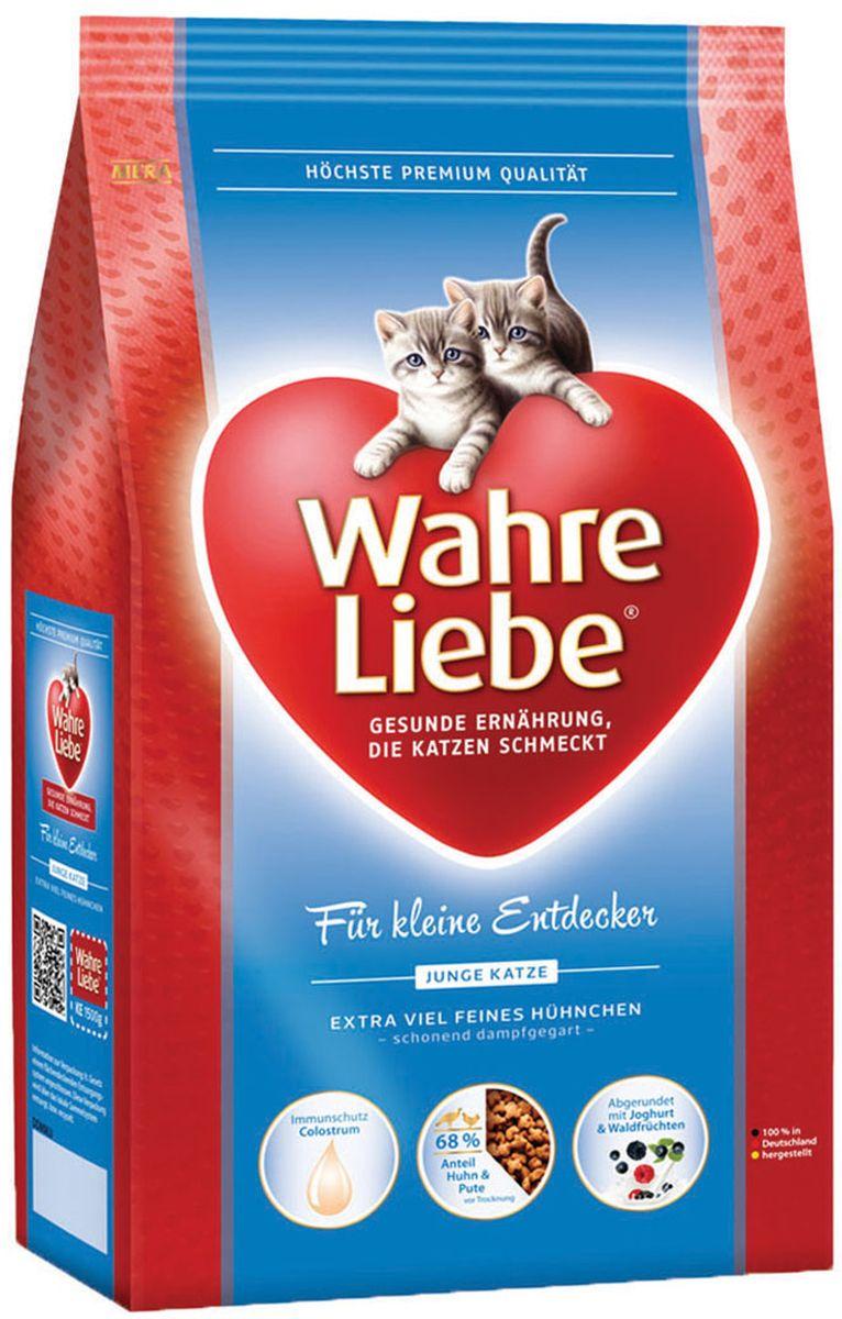 Корм сухой Wahre Liebe Junior, для котят, 10 кг0120710Wahre Liebe - это корм, произведенный в Германии, он обладает превосходным вкусом и ароматом, которые не оставят равнодушной даже самую привередливую кошку. Ведущий ветеринарный врач завода Mera учел все потребности организма кошки и разработал идеальную формулу корма и назвал ее - Wahre Liebe, что в переводе с немецкого Истинная любовь.Wahre Liebe - не только подарит любовь и заботу питомцу, но и обеспечит его здоровьем и долголетием на всю жизнь.Корм Wahre Liebe это:- 68% свежего мяса,- устойчивая кишечная микрофлора и отличное пищеварение,- профилактика волосяных комочков,- поддержка иммунитета на клеточном уровне,- сбалансированное и полнорационное питание.Wahre Liebe - это истинная любовь для кошек с характером. Это истинно немецкое качество.Состав: мука из мяса птицы (курица - 26%, индейка - 4%), рис (14%), кукурузный глютен,животный жир (птица), кукуруза, пшеничный глютен, куриный белок (гидролизованный), свекловичная стружка ( обессахаренная, 3,5%), масло лосося (2%), подсолнечное масло (1,4%), масло льняных семян (1%), куриная печень (1%, высушенная), целлюлозная клетчатка (1%), молозиво (коллострум, 0,5% богат иммуноглобулинами), пивные дрожжи (сухие), хлорид натрия, хлорид калия, высушенное яйцо, порошок цикория (0,2%, богатый инулином),порошок изйогурта (0,2%), дрожжевой экстракт (0,04%, богат бета-глюканами),порошок из лесных плодов (0,1%), порошок из цветов бархатцев (0,03%, богат лютеином), порошок из Юкки Шидигера. Товар сертифицирован.