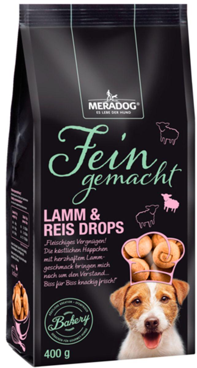 Лакомство для собак Meradog Lamm & Rice Drops, хрустящие капельки, 400 г40166Лакомства Meradog - это восхитительное хрустящее печенье, которое не оставит равнодушным ни одну собаку. Лакомства Meradog всегда помогут сделать вашего питомца счастливым, а особый вкус и аромат обязательно доставят ему море удовольствия, и он попросит еще. Лакомства идеально подойдут в качестве угощения и для дрессировки. Воспитание и дрессировка с вкусняшками Meradog приведут вас к цели быстрее, чем вы думаете.Лакомства для собак Meradog - это:- Полезные добавки к основному питанию.- Витамины и минералы, способствующие восстановлению баланса питательных веществ и укреплению здоровья собаки.- Отличная профилактика образования зубного камня и заболеваний полости рта.Побалуйте свою собаку - подарите ей заботу с Meradog.Состав: злаки (рис 4%), овощные субпродукты, мясо и мясные субпродукты (мука из мяса ягненка 4%), масла и жиры.Товар сертифицирован.