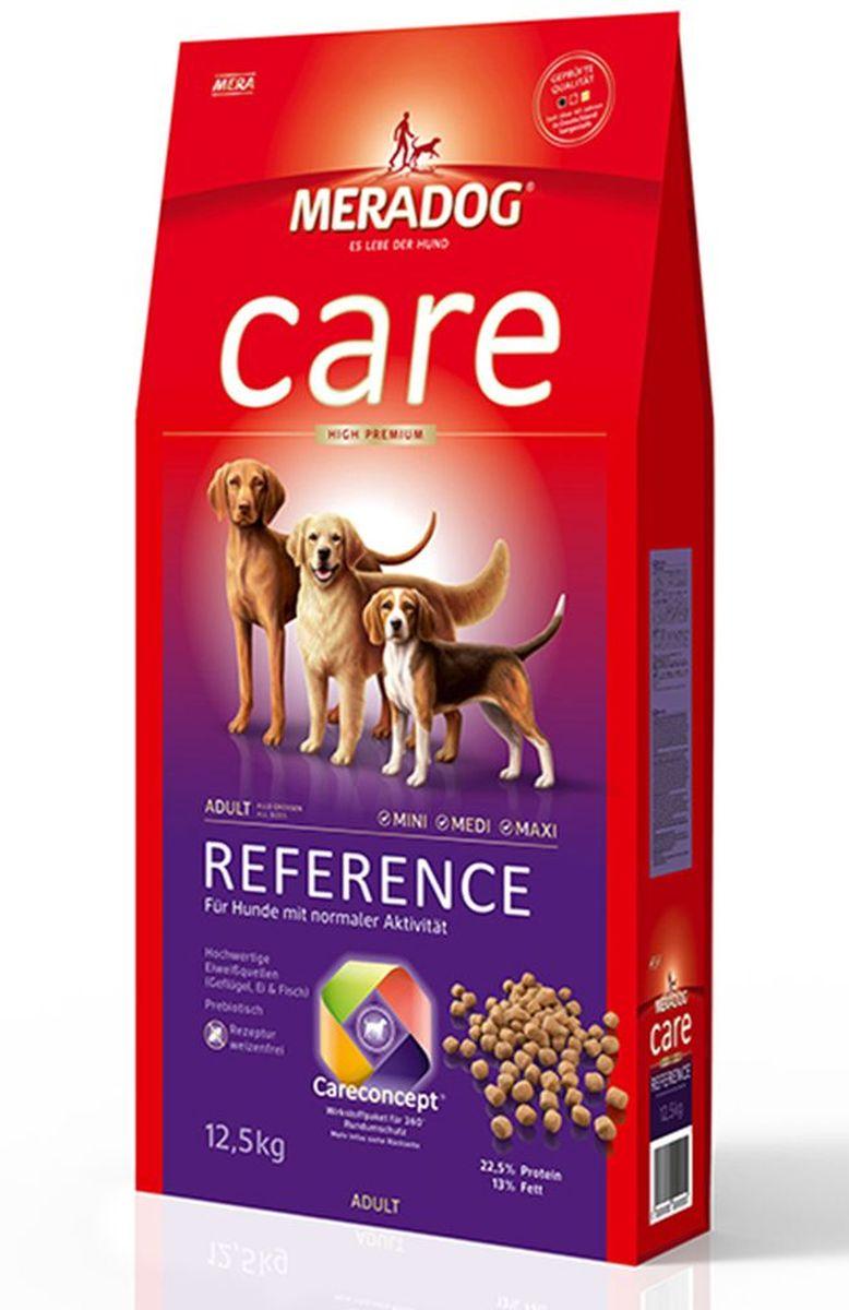 Корм сухой Meradog Reference, для взрослых собак с нормальной активностью, 300 г0120710Полнорационный корм для взрослых собак с нормальной активностью. Формула Запах, стоп! и концепция защиты от MERADOG :антиоксиданты (витамин C, Е, бета-каротин и селен) для оптимальной защиты клеток. Натуральные жирные кислоты Омега-3 и Омега-6 (масло лосося, подсолнечное масло и масло льняных семян), а также хелат цинка для кожи и шерсти. Пребиотический инулин для стабильной кишечной флоры и надежного пищеварения. Источники высококачественного белка (птица, яйца, рыба) для поддержания оптимального телосложения и обмена веществ. Формула «Запах, стоп!» - комплекс биологически активных веществ для уменьшения неприятного запаха от собаки.