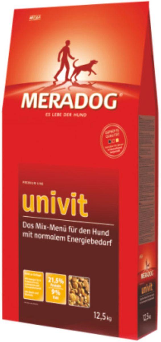 Корм сухой Meradog Univit, микс-меню для собак с нормальной активностью, 12,5 кг0120710Миллионы собак по всему миру благодарят своих хозяев за любовь, заботу и Meradog.Аппетитное мясное или рыбное филе с отборным рисом, кукурузой или картофелем, ароматные морепродукты, приготовленные особым способом в сочетании с натуральными овощами - в этот вкус невозможно не влюбиться.Ведущий ветеринарный врач завода Mera - доктор Стефан Мандель смог разработать идеальную формулу здоровья для вашего члена семьи - Meradog.Всем известно, что немецкие корма обладают не только безупречным качеством, но и идеальным вкусом. А все это благодаря:- высокому проценту мяса,- комплексу необходимых витаминов,- колоструму, обеспечивающего иммунную защиту,- оптимальному полнорационному составу.Сделайте счастливым вашего питомца, просто - подарите ему Meradog.Особенности: 1) 21,5% протеина и 9% жира,2) Содержатся биотин и пивные дрожжи.Состав: кукуруза, пшеница, мука из мяса птицы (курица - 19%), кукурузная глютеновая мука, свекловичная стружка (обессахаренная), рис, животный жир, горох (сухой), мясная мука, животный белок (гидролизованный), масло льняных семян (1%), пивные дрожжи (0,5 %, сухие), хлорид натрия, карбонат кальция, монофосфат кальция, подсолнечное масло (0,2%).Товар сертифицирован.