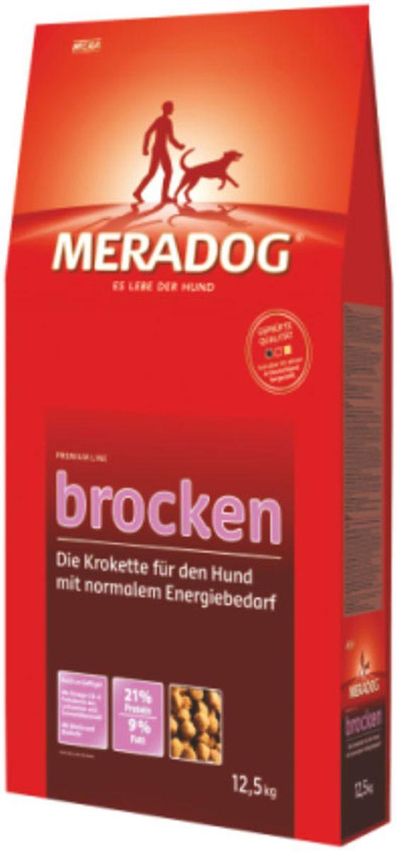 Корм сухой Meradog Brocken, крокеты для взрослых собак с нормальной активностью, 12,5 кг0120710Миллионы собак по всему миру благодарят своих хозяев за любовь, заботу и Meradog.Аппетитное мясное или рыбное филе с отборным рисом, кукурузой или картофелем, ароматные морепродукты, приготовленные особым способом в сочетании с натуральными овощами - в этот вкус невозможно не влюбиться.Ведущий ветеринарный врач завода Mera - доктор Стефан Мандель смог разработать идеальную формулу здоровья для вашего члена семьи - Meradog.Всем известно, что немецкие корма обладают не только безупречным качеством, но и идеальным вкусом. А все это благодаря:- высокому проценту мяса,- комплексу необходимых витаминов,- колоструму, обеспечивающего иммунную защиту,- оптимальному полнорационному составу.Сделайте счастливым вашего питомца, просто - подарите ему Meradog.Особенности: 1) 21% протеина и 9% жира,2) Содержатся биотин и пивные дрожжи.Состав: кукуруза, пшеница, мука из мяса птицы ( курица - 11%), кукурузная глютеновая мука, ячмень, мясо куры, животный жир, свекловичная стружка (обессахаренная), животный белок (гидролизованный), масло льняных семян (1 %), карбонат кальция, пивные дрожжи (0,5 %, сухие), хлорид натрия, подсолнечное масло (0,2 %).Товар сертифицирован.