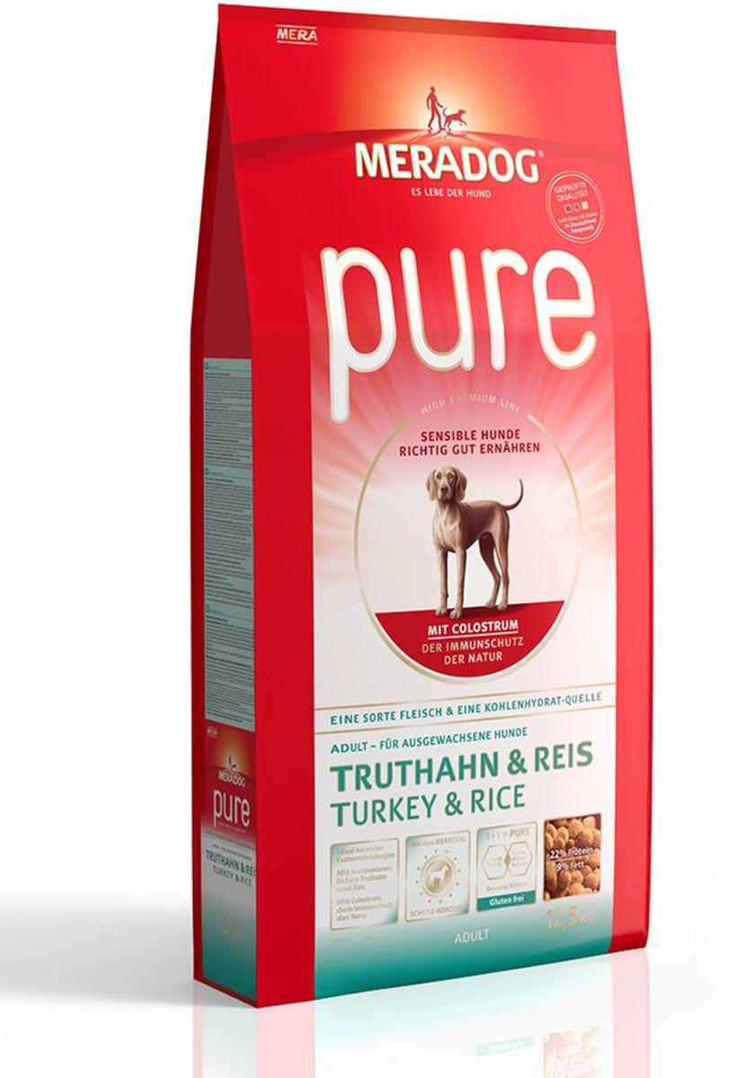 Корм сухой Meradog Pure Turkey & Rice, для взрослых собак с проблемами в питании/аллергиями, с индейкой и рисом, 300 г5649020Полнорационный корм для взрослых собак с проблемами в питании и/или аллергиями и концепция защиты от MERADOG:антиоксиданты (витамин C, Е, бета-каротин и селен) для оптимальной защиты клеток. Натуральные жирные кислоты Омега-3 и Омега-6 (масло лосося, подсолнечное масло и масло льняных семян), а также хелат цинка для кожи и шерсти. Пребиотический инулин для стабильной кишечной флоры и надежного пищеварения. Высококачественный животный белок (индейка) для поддержания оптимального телосложения и обмена веществ. Идеально при многих пищевых аллергий. Только один источник углеводов и только один вид мяса. Колострум, маннан-олигосахариды и бета-глюканы для оптимальной иммунной защиты.