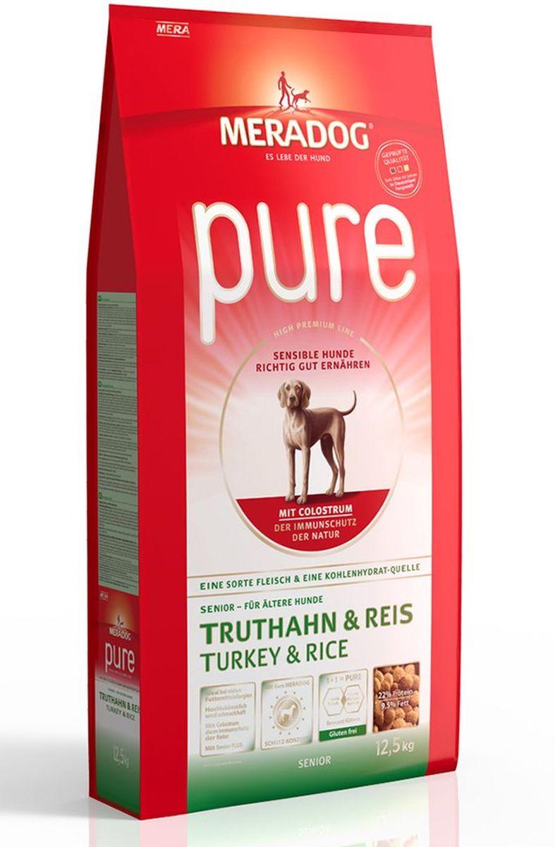 Корм сухой Meradog Pure Turkey & Rice Senior, для стареющих собак с проблемами в питании/аллергиями, с индейкой и рисом, 300 г0120710Полнорационный корм для стареющих собак с проблемами в питании и/или аллергиями и концепция защиты от MERADOG:антиоксиданты (витамин C, Е, бета-каротин и селен) для оптимальной защиты клеток. Натуральные жирные кислоты Омега-3 и Омега-6 (масло лосося, подсолнечное масло и масло льняных семян), а также хелат цинка для кожи и шерсти. Пребиотический инулин для стабильной кишечной флоры и надежного пищеварения. Высококачественный животный белок (индейка) для поддержания оптимального телосложения и обмена веществ. Идеально при многих пищевых аллергий. Только один источник углеводов и только один вид мяса. Колострум, маннан-олигосахариды и бета-глюканы для оптимальной иммунной защиты.