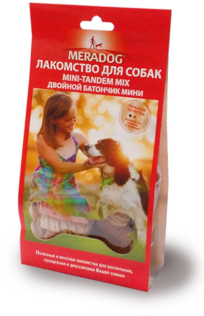 Лакомство для собак Meradog Mini-Tandem Mix, 150 г940910Лакомства Meradog - это восхитительное хрустящее печенье, которое не оставит равнодушным ни одну собаку. Лакомства Meradog всегда помогут сделать вашего питомца счастливым, а особый вкус и аромат обязательно доставят ему море удовольствия, и он попросит еще. Лакомства идеально подойдут в качестве угощения и для дрессировки. Воспитание и дрессировка с вкусняшками Meradog приведут вас к цели быстрее, чем вы думаете.Лакомства для собак Meradog - это:- Полезные добавки к основному питанию.- Витамины и минералы, способствующие восстановлению баланса питательных веществ и укреплению здоровья собаки.- Отличная профилактика образования зубного камня и заболеваний полости рта.Побалуйте свою собаку - подарите ей заботу с Meradog.Состав: злаки, мясо и мясные субпродукты, масла и жиры, минералы.Товар сертифицирован.