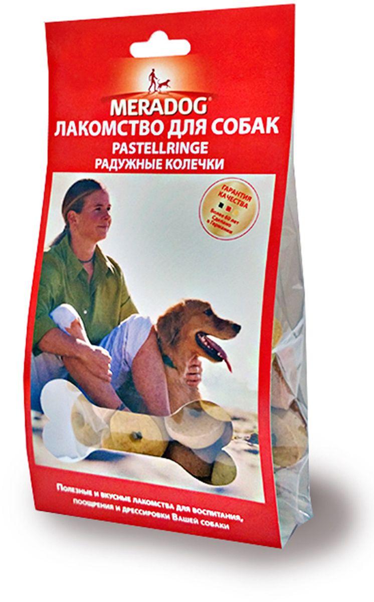 Лакомство для собак Meradog Pastellringe, радужные колечки, 150 г101203Лакомства Meradog - это восхитительное хрустящее печенье, которое не оставит равнодушным ни одну собаку. Лакомства Meradog всегда помогут сделать вашего питомца счастливым, а особый вкус и аромат обязательно доставят ему море удовольствия, и он попросит еще. Лакомства идеально подойдут в качестве угощения и для дрессировки. Воспитание и дрессировка с вкусняшками Meradog приведут вас к цели быстрее, чем вы думаете.Лакомства для собак Meradog - это:- Полезные добавки к основному питанию.- Витамины и минералы, способствующие восстановлению баланса питательных веществ и укреплению здоровья собаки.- Отличная профилактика образования зубного камня и заболеваний полости рта.Побалуйте свою собаку - подарите ей заботу с Meradog. Состав: злаки, масла и жиры, мясо и мясные субпродукты, овощные субпродукты, минералы.Товар сертифицирован.