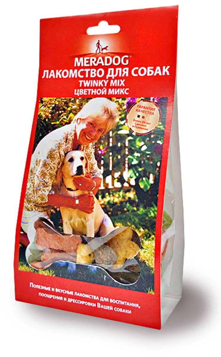 Лакомство для собак Meradog Twinky Mix, цветной микс, 150 г0120710Печенье (лакомства) для собак. Как вознаграждение, а также дополнение к основному рациону собак