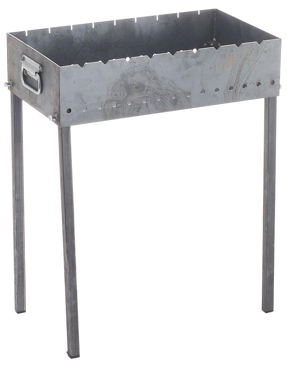 Мангал стационарный Пикничок, с перчаткамиSF 0085Стационарный мангал Пикничок предназначен для приготовления продуктов на углях на открытом воздухе. Сварной корпус изготовлен из стальных листов толщиной 3 мм, а также из высококачественной жаропрочной углеродистой стали.Такой мангал хорошо поддерживает жар, не требует большого количества угля. Благодаря особой конструкции, мангал обладает повышенной устойчивостью. Благодаря этому не коробится при использовании.В комплект входят хлопчатобумажные перчатки с ПВХ напылением..Размер мангала (с учетом ножек): 60 х 35 х 80 см.