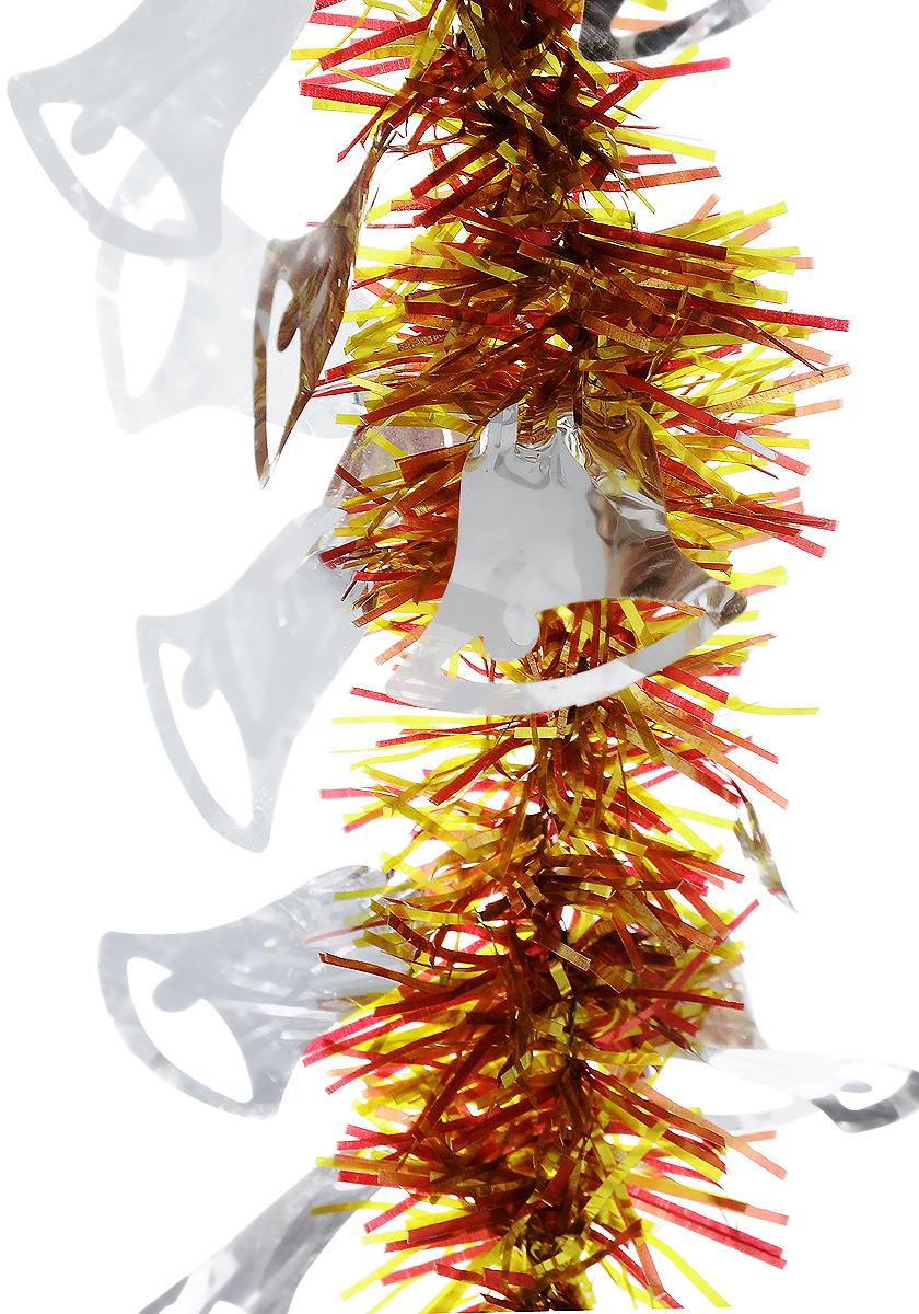 Мишура новогодняя B&H Колокольчики, цвет: золотистый, красный, серебристый, длина 2 м00-00007373Мишура новогодняя B&H Колокольчики, выполненная из ПВХ, поможет вам украсить свой дом к предстоящим праздникам. Новогодняя елка с таким украшением станет еще наряднее. Новогодней мишурой можно украсить все, что угодно - елку, квартиру, дачу, офис - как внутри, так и снаружи. Можно сложить новогодние поздравления, буквы и цифры, мишурой можно украсить и дополнить гирлянды, можно выделить дверные колонны, оплести дверные проемы.