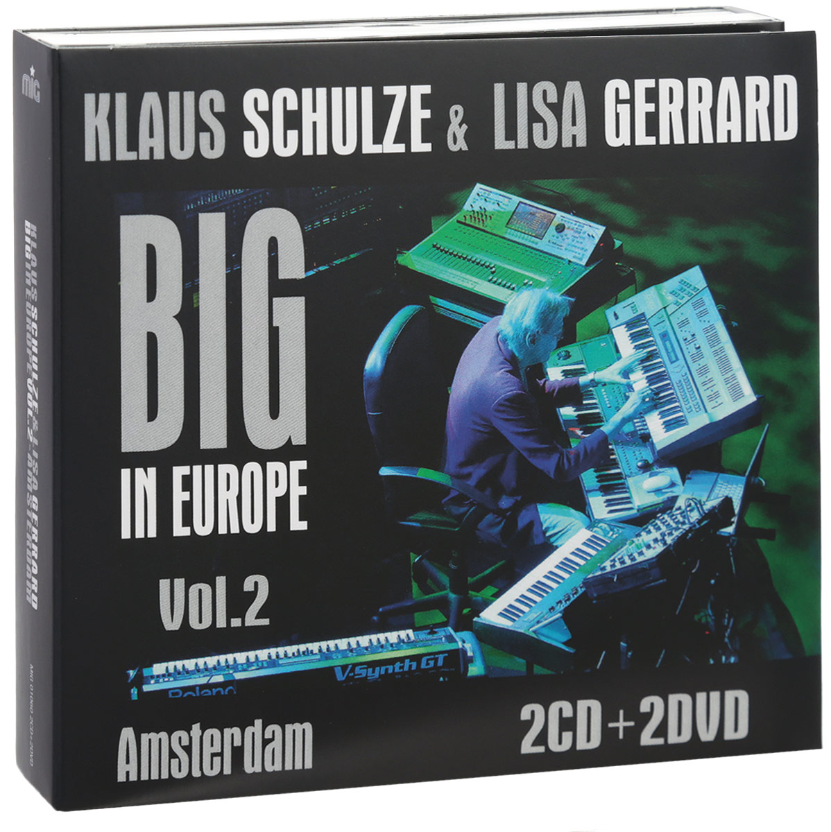 Клаус Шульце,Лайза Джеррард Klaus Schulze & Lisa Gerrard. Big In Europe Vol. 2. Amsterdam (2 CD + 2 DVD) schulze blue press line size 2 s