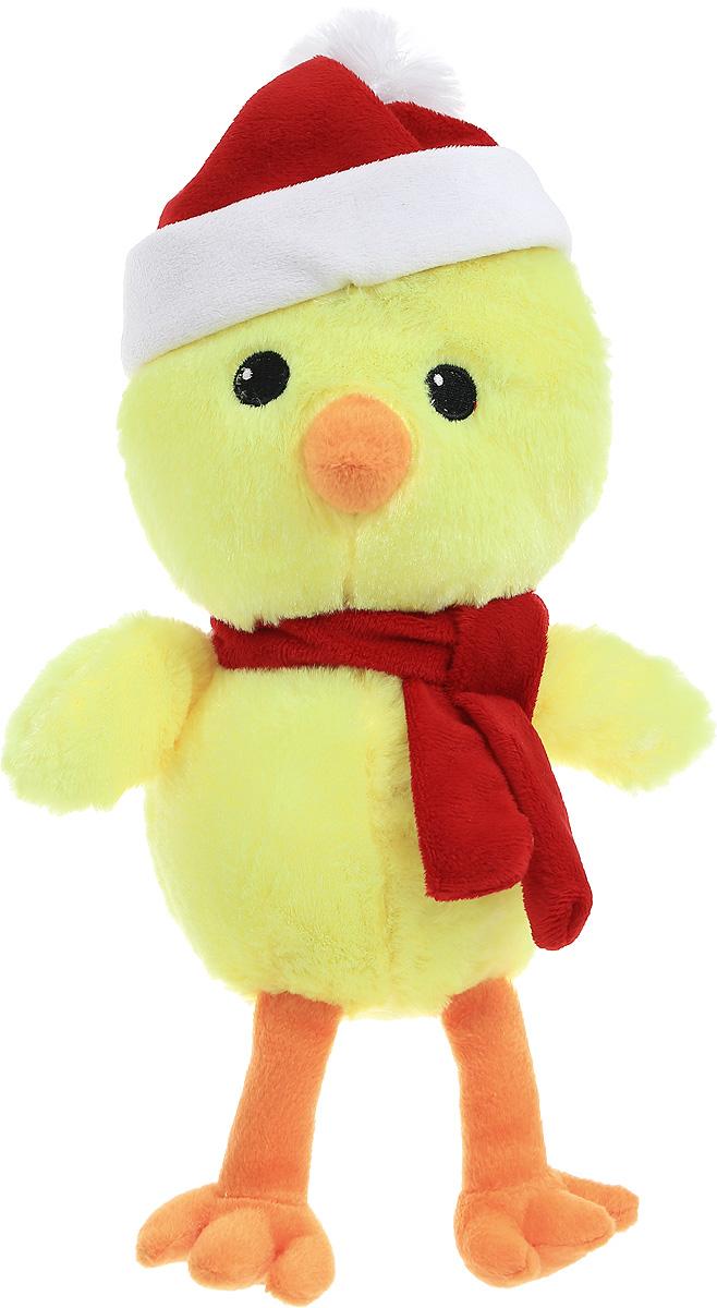 Gulliver Мягкая игрушка Цыпленок Цыпа Санта 20 см