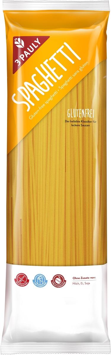 3 Pauly макаронные изделия Спагетти из кукурузной и нутовой муки, без глютена и лактозы, 500 г0120710Легкие безглютеновые спагетти для итальянской кухни и стройной фигуры.Попробуйте макаронные изделия от 3 PAULY на кукурузной и нутовой муке - эти спагетти отлично подойдут для ваших любимых блюд.Добавляйте к ним соусы, томатную пасту, грибы - вариантов масса. Они не содержат яиц, лактозы и глютена.