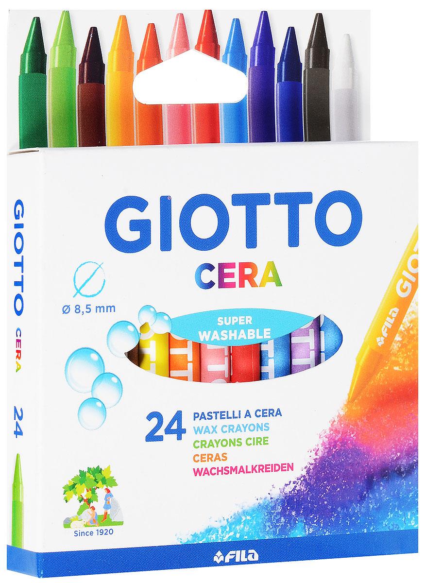 Восковые карандаши Giotto Cera Maxi, 24 цвета72523WDОт производителяВосковые утолщенные карандаши Glotto Cera Maxi прекрасно подойдут для развития детского творчества. Карандаши изготовлены на основе полимерных восков, натуральных наполнителей и высококачественных пигментов. Они не пачкаются, не ломаются, мягкие, прочные, без запаха. Карандаши отличаются яркими и насыщенными цветами, позволяют проводить мягкие и ровные штрихи. Восковые карандаши помогут ребенку развить творческие способности, воображение, цветовосприятие, мелкую моторику рук, усидчивость и аккуратность. Порадуйте своего ребенка таким восхитительным подарком! В комплекте: 24 восковых карандаша. Восковые утолщенные карандаши Glotto Cera Maxi прекрасно подойдут для развития детского творчества. Карандаши изготовлены на основе полимерных восков, натуральных наполнителей и высококачественных пигментов. Они не пачкаются, не ломаются, мягкие, прочные, без запаха. Карандаши отличаются яркими и насыщенными цветами, позволяют проводить мягкие и ровные штрихи. Восковые карандаши помогут ребенку развить творческие способности, воображение, цветовосприятие, мелкую моторику рук, усидчивость и аккуратность. Восковые утолщенные карандаши Glotto Cera Maxi прекрасно подойдут для развития детского творчества. Карандаши изготовлены на основе полимерных восков, натуральных наполнителей и высококачественных пигментов. Они не пачкаются, не ломаются, мягкие, прочные, без запаха. Карандаши отличаются яркими и насыщенными цветами, позволяют проводить мягкие и ровные штрихи. Восковые карандаши помогут ребенку развить творческие способности, воображение, цветовосприятие, мелкую моторику рук, усидчивость и аккуратность. Порадуйте своего ребенка таким восхитительным подарком! В комплекте: 24 восковых карандаша. Характеристики: Длина мелка: 9,5 см. Диаметр мелка: 0,8 см. Размер упаковки: 13 см х 10,5 см х 1,8 см. Изготовитель: Италия.