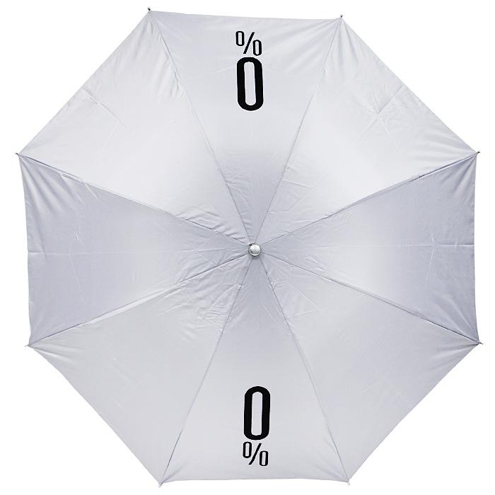 Зонт механический 0% Alcoholicity, цвет: белыйП250071001-22Оригинальный складной механический зонт даже в ненастную погоду позволит вам оставаться стильной и элегантной. Каркас зонта выполнен из восьми металлических спиц, удобная рукоятка - из пластика. На рукоятке для удобства есть небольшой шнурок, позволяющий надеть зонт на руку тогда, когда это будет вам необходимо. Зонт хранится в чехле, который выполнен в виде пластиковой бутылки с надписью 0% Alcoholicity . Компактные размеры зонта в сложенном виде позволят ему без труда поместиться в сумочке.Характеристики: Материал: металл, пластик, полиэстер. Высота бутылки: 30,5 см. Диаметр зонта: 102 см. Производитель: Китай.Артикул: 89981.
