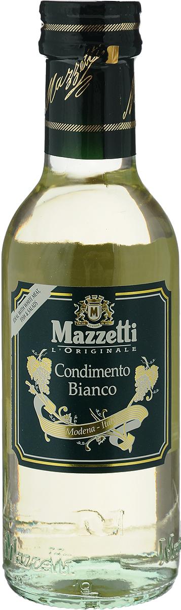 Mazzetti уксус бальзамический белый, 250 мл0120710Уксус из белого вина Mazzetti обладает богатым ароматом, идеально подходит для заправки салатов, для белого мяса, рыбы и для создания светлых соусов.Появление осадка или легкое замутнение цвета является естественным процессом, не влияющим на качество продукта.Уважаемые клиенты! Обращаем ваше внимание, что полный перечень состава продукта представлен на дополнительном изображении.