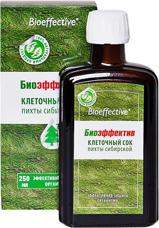 БиоЭффектив клеточный сок пихты сибирской, 250 мл4610008503135Клеточный сок пихты - помощь иммунитету в зимний и весенний период, а также во время повышенных нагрузок. Экономная упаковка, для всей семьи на холодный период!Производится из свежезаготовленной хвои путем углекислотной экстрактации. То есть никаких повышенных температур, органических растворителей и консервантов - вся сила тайги добыта и сохранена в первозданном виде.Сок пихты БиоЭффектив уникален по своим свойствам. Он способен поднять тонус всего вашего организма. В состав сока входят витамин С, каротин, мальтол, многочисленные макро- и микроэлементы. Мальтол - сильнейший природный антиоксидант, он не дает свободным радикалам разрушать клетки организма и улучшает всасываемость и усвоение железа.Продукт не содержит консервантов, стабилизаторов, сахара, спирта, воды из внешних источников – это абсолютно натуральный, экологически чистый продукт, который отлично подходит детям и лицам пожилого возраста для оздоровления и укрепления организма.