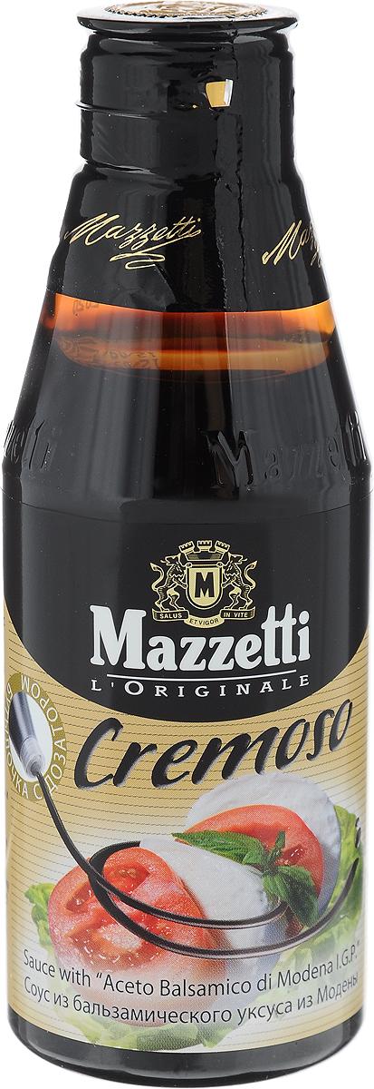 Mazzetti cоус Cremoso из бальзамического уксуса, 215 мл542914Восхитительный густой соус Mazzetti Cremoso из бальзамического уксуса для заправки ваших блюд. Добавьте его в блюда из мяса, рыбы, овощей, соусы и заправки для салатов, а также - к гарнирам, фруктовым десертам и мороженому.Уважаемые клиенты! Обращаем ваше внимание, что полный перечень состава продукта представлен на дополнительном изображении.