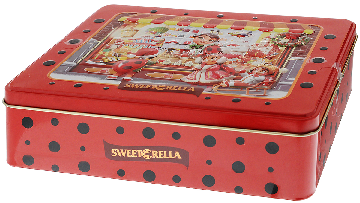Sweeterella печенье сдобное ассорти, 6 вкусов, 510 гУТ000001698Sweeterella - ассорти превосходного сдобного печенья, изготовленного по традиционным старинным рецептам. Печенье упаковано в удобную прямоугольную жестяную банку.Ассорти из 6 видов превосходного сдобного печенья:- печенье с кусочками шоколада и апельсина;- печенье с яблоком и корицей;- печенье с хлопьями миндаля;- печенье с кокосовой стружкой;- печенье с яблоком и изюмом;- печенье с кусочками шоколада.Уважаемые клиенты! Обращаем ваше внимание, что полный перечень состава продукта представлен на дополнительном изображении.