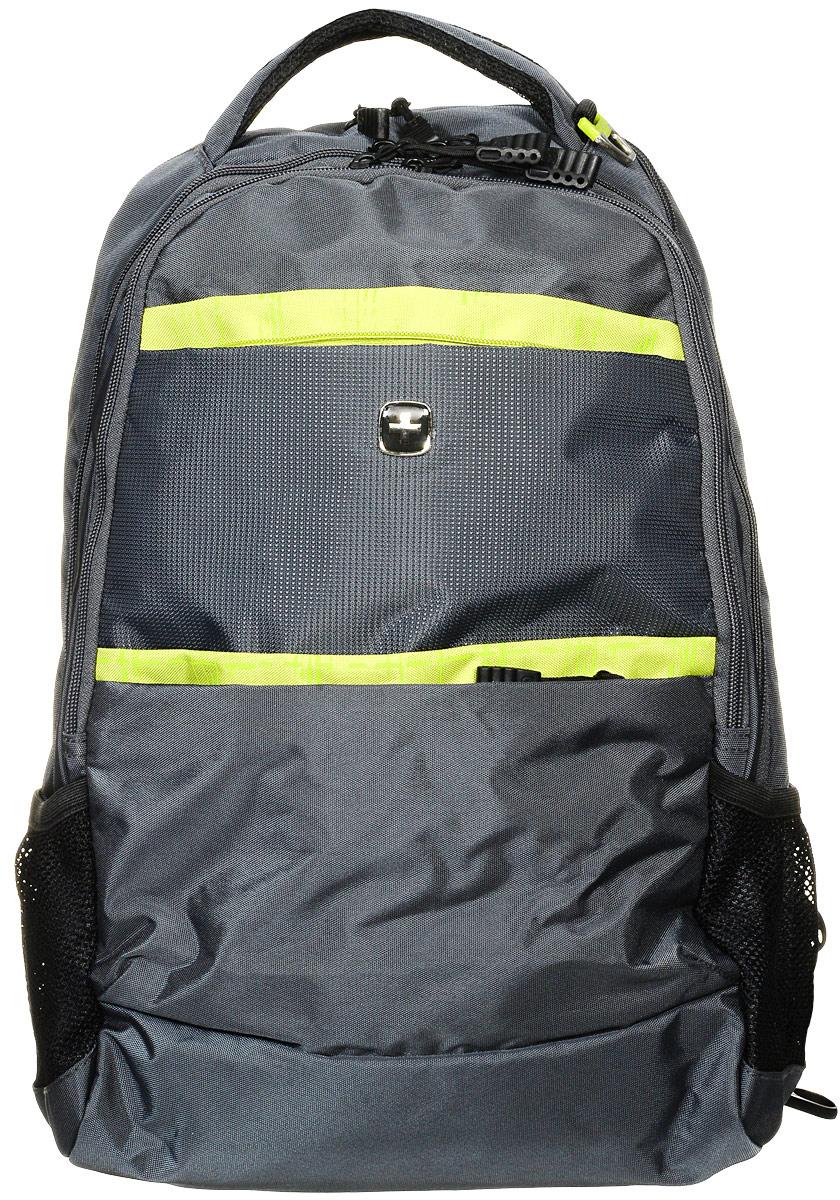 Рюкзак городской Wenger, цвет: серый, салатовый, 28 л. 6629446408 - Рюкзаки