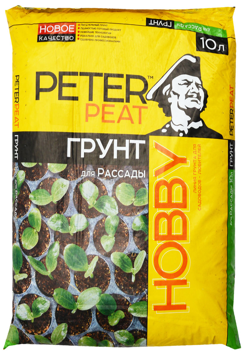 Грунт для растений Peter Peat Для рассады, 10 лGC204/30Грунт Peter Peat Для рассады - это полностью готовый к использованию питательный торфяной грунт. Грунт предназначен для выращивания рассады всех видов овощных и цветочных культур. Не требует дополнительного внесения удобрений, обеспечивает рассаду растений необходимым набором элементов питания на весь период развития до пересадки на основное место. Повышает всхожесть семян, приживаемость рассады.
