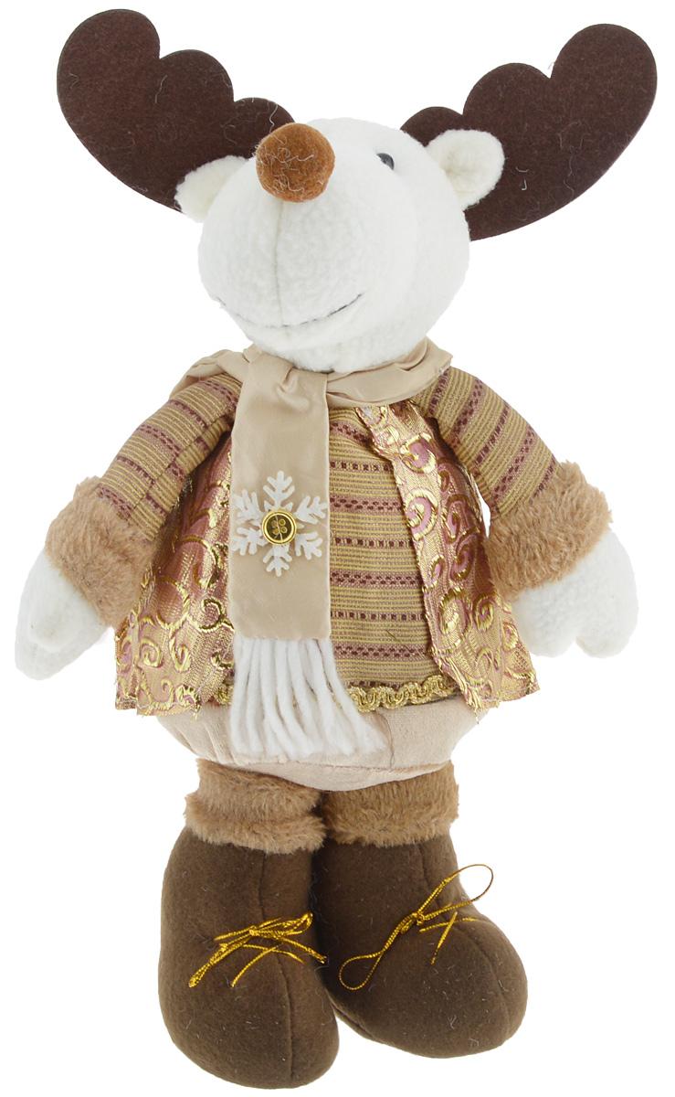 Украшение новогоднее декоративное Win Max Лосик, высота 36 смBD 60-300Новогоднее декоративное украшение Win Max Лосик станет отличным элементом декора дома в преддверии Нового года. Фигурка изготовлена из текстиля, внутри мягкий синтепоновый наполнитель. Очаровательный Лосик одет в золотистую накидку с тесьмой, на шее - шарфик с аппликацией в виде снежинки. Специальные утяжелители в основании фигурки обеспечивают хорошую устойчивость. Новогодние украшения несут в себе волшебство и красоту праздника. Они помогут вам украсить дом к предстоящим праздникам и оживить интерьер. Создайте в доме атмосферу тепла, веселья и радости, украшая его всей семьей.