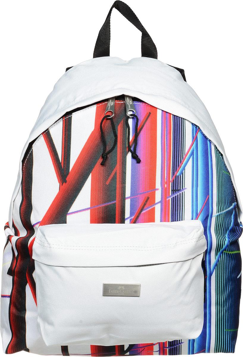 Faber-Castell Рюкзак Фестиваль730396Стильный и качественный рюкзак Faber-Castell Фестиваль выполнен из прочного водоотталкивающего полиэстера и прекрасно подойдет для использования подростками.Это легкий и компактный городской рюкзак, который обязательно подчеркнет вашу индивидуальность.Рюкзак содержит одно большое вместительное отделение, закрывающееся на застежку-молнию с двумя бегунками. На лицевой стороне рюкзака расположен накладной карман на молнии.Рюкзак оснащен широкими лямками и текстильной ручкой для переноски в руке.Такую модель рюкзака можно использовать для повседневных прогулок, отдыха и спорта.