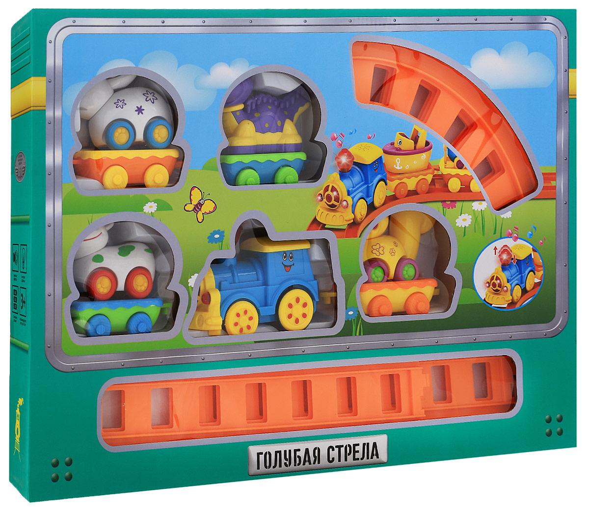 Голубая стрела Железная дорога Веселое путешествие цвет паровоза голубой - Железные дороги