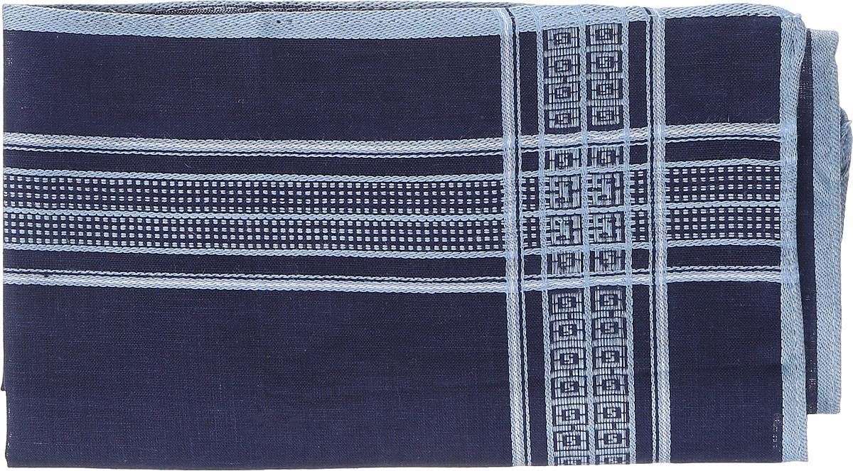 Платок носовой мужской Zlata Korunka, цвет: темно-синий, голубой. 45560. Размер 27 см х 27 смАжурная брошьОригинальный мужской носовой платок Zlata Korunka изготовлен из высококачественного натурального хлопка, благодаря чему приятен в использовании, хорошо стирается, не садится и отлично впитывает влагу. Практичный и изящный носовой платок будет незаменим в повседневной жизни любого современного человека. Такой платок послужит стильным аксессуаром и подчеркнет ваше превосходное чувство вкуса.