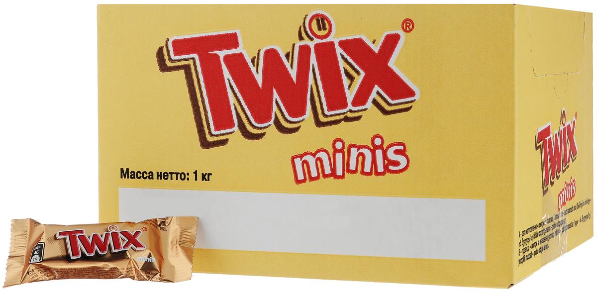 Twix minis шоколадный батончик, 1 кг0120710Шоколадные батончики Twix minis - это хрустящее печенье, густая карамель и великолепный молочный шоколад. Чаепитие с Twix в компании коллег, друзей или родных - отличное способ провести свободное время.Сделай паузу - скушай Twix.Уважаемые клиенты! Обращаем ваше внимание, что полный перечень состава продукта представлен на дополнительном изображении.