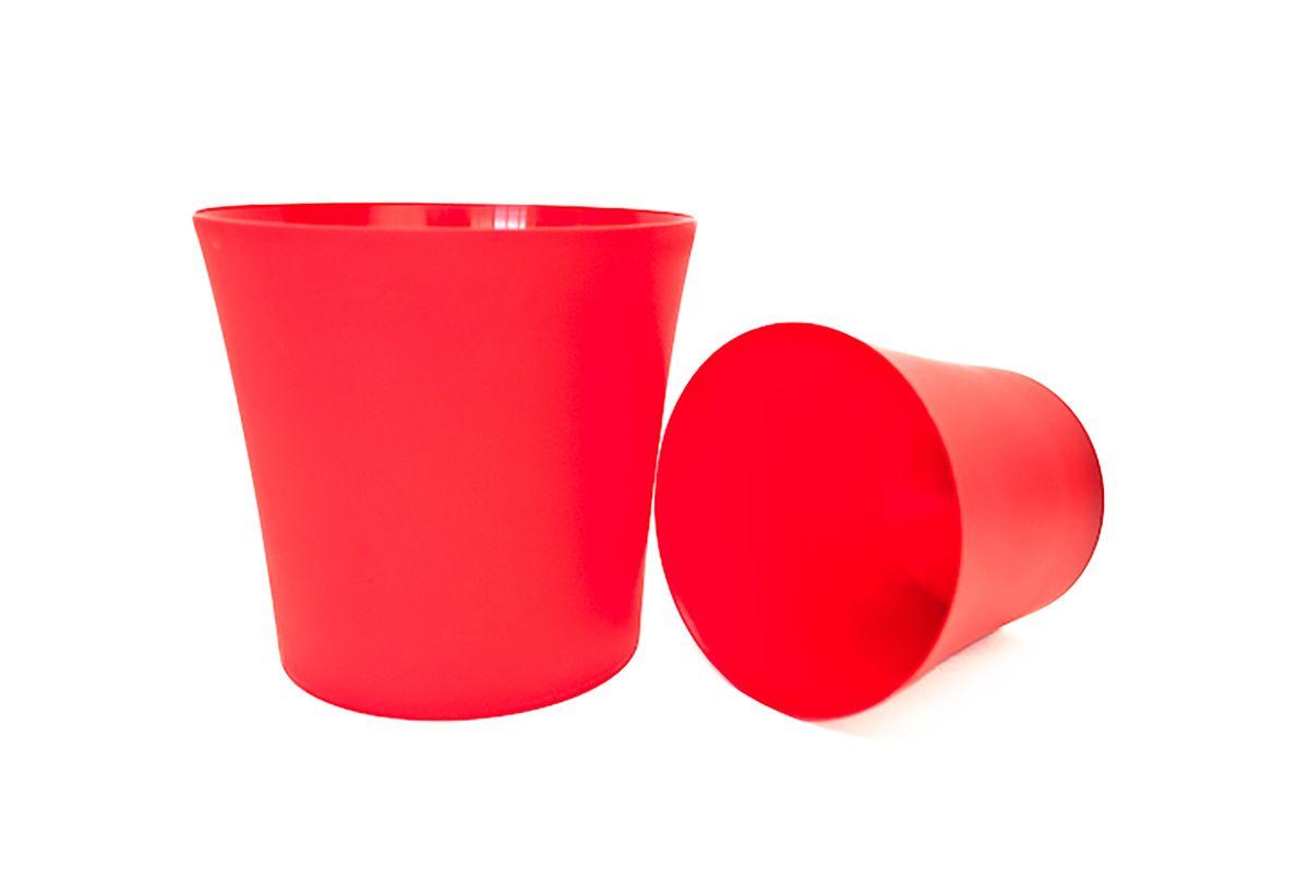 Кашпо Form-Plastic Фиолек, цвет: красный, диаметр 16 см41624Кашпо имеет минималистичный дизайн, подходящий под любой интерьер. Его матовая поверхность делает цвета насыщеннее и дает устойчивость к внешним воздействиям (царапины, солнечные лучи и т.д.).