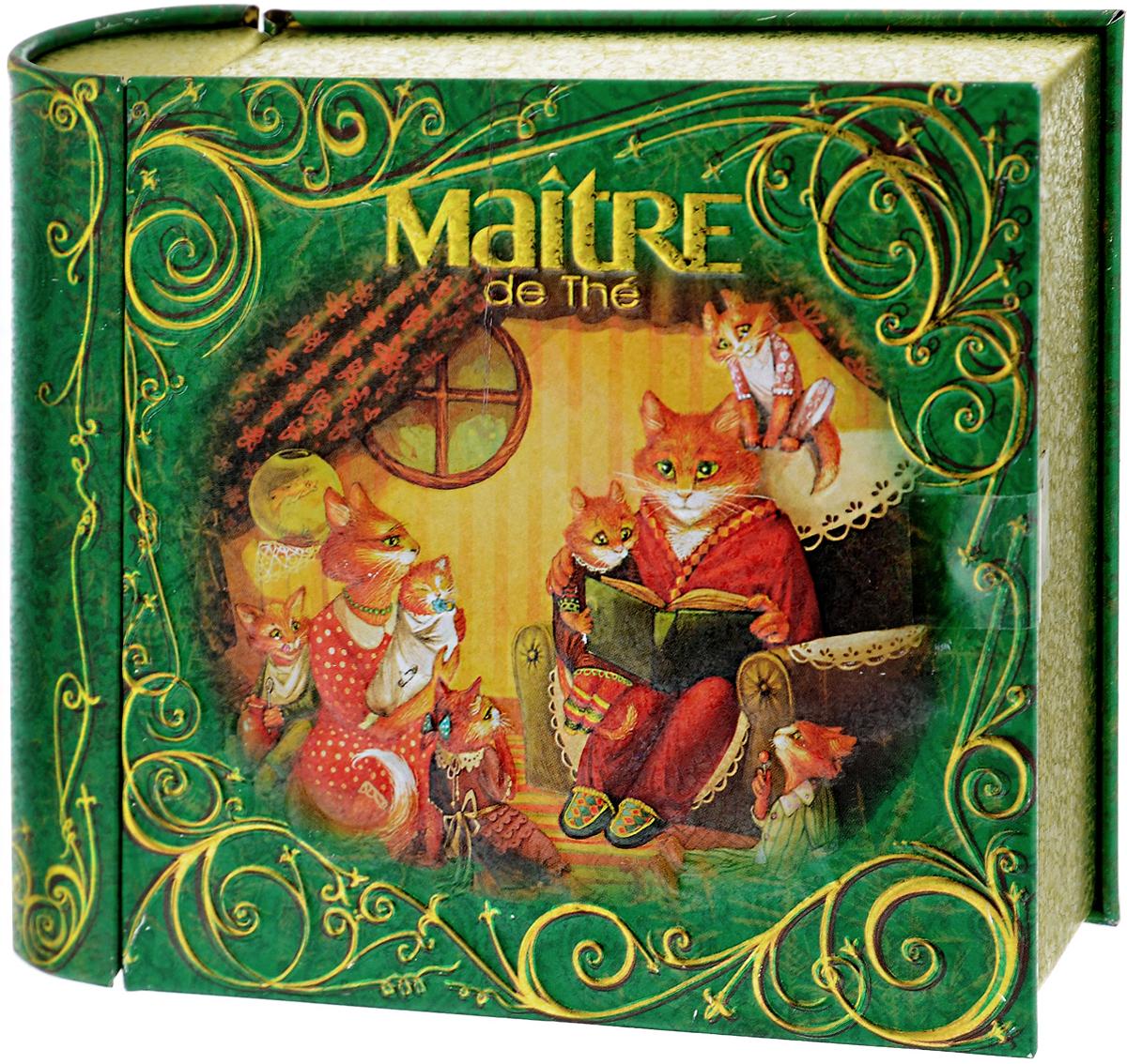 Maitre Домашний очаг чай черный листовой, 65 г101246Превосходный купаж черного байхового индийского и цейлонского листового чая Maitre Домашний очаг в новогодней подарочной упаковке в виде толстой книжки. Яркий, насыщенный дизайн, потешные герои – все рождает самые теплые и светлые чувства. Отлично подойдет в качестве подарка на новогодние праздники.
