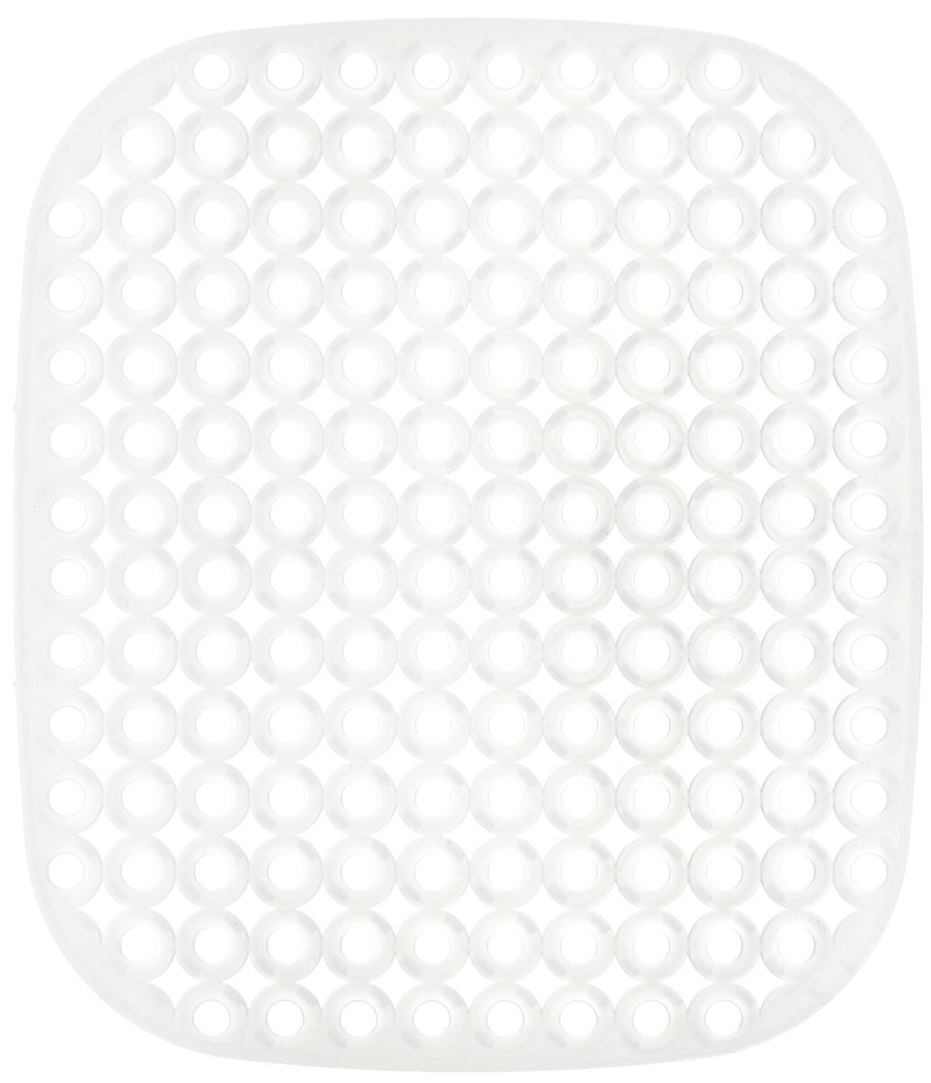 Коврик для раковины Tescoma Clean Kit, цвет: полупрозрачный, 32 х 28 см4606400105459Стильный и удобный коврик для раковины Tescoma Clean Kit выполнен из пластика. Он одновременно выполняет несколько функций: украшает, защищает мойку от царапин и сколов, смягчает удары при падении посуды в мойку, препятствует разбрызгиванию струи воды. Коврик также можно использовать для сушки посуды, фруктов и овощей.Нельзя мыть в посудомоечной машине.