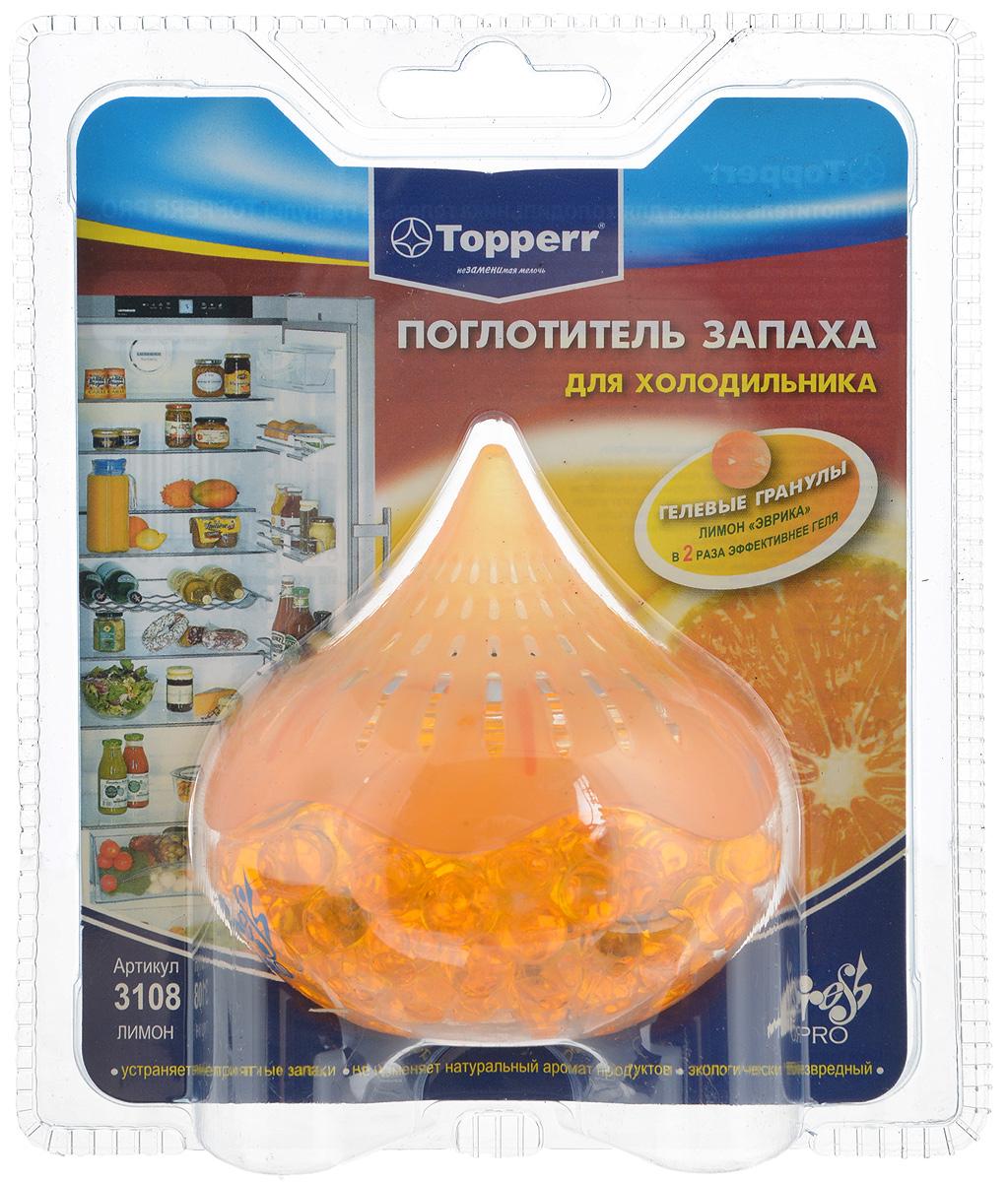 Поглотитель запаха для холодильника Topperr Лимон, гелевыйVT-1520(SR)Поглотитель запаха для холодильника Topperr Лимон изготовлен из безопасных минеральных и углеродных адсорбентов, экологически безвреден, предназначен для устранения неприятных запахов в холодильнике. Не воздействует на продукты и сохраняет их натуральные ароматы. Благодаря свой форме гелевые шарики позволяют свободно циркулировать воздуху, тем самым ускоряя процесс поглощения неприятного запаха вдвое по сравнению с другими поглотителями.Способ применения:Снимите защитную пленку, прикрепите круглую двустороннюю липучку на дно поглотителя, зафиксируйте поглотитель в любом удобном месте в вашем холодильнике.С момента вскрытия защитной упаковки эффективен 1,5 месяца.