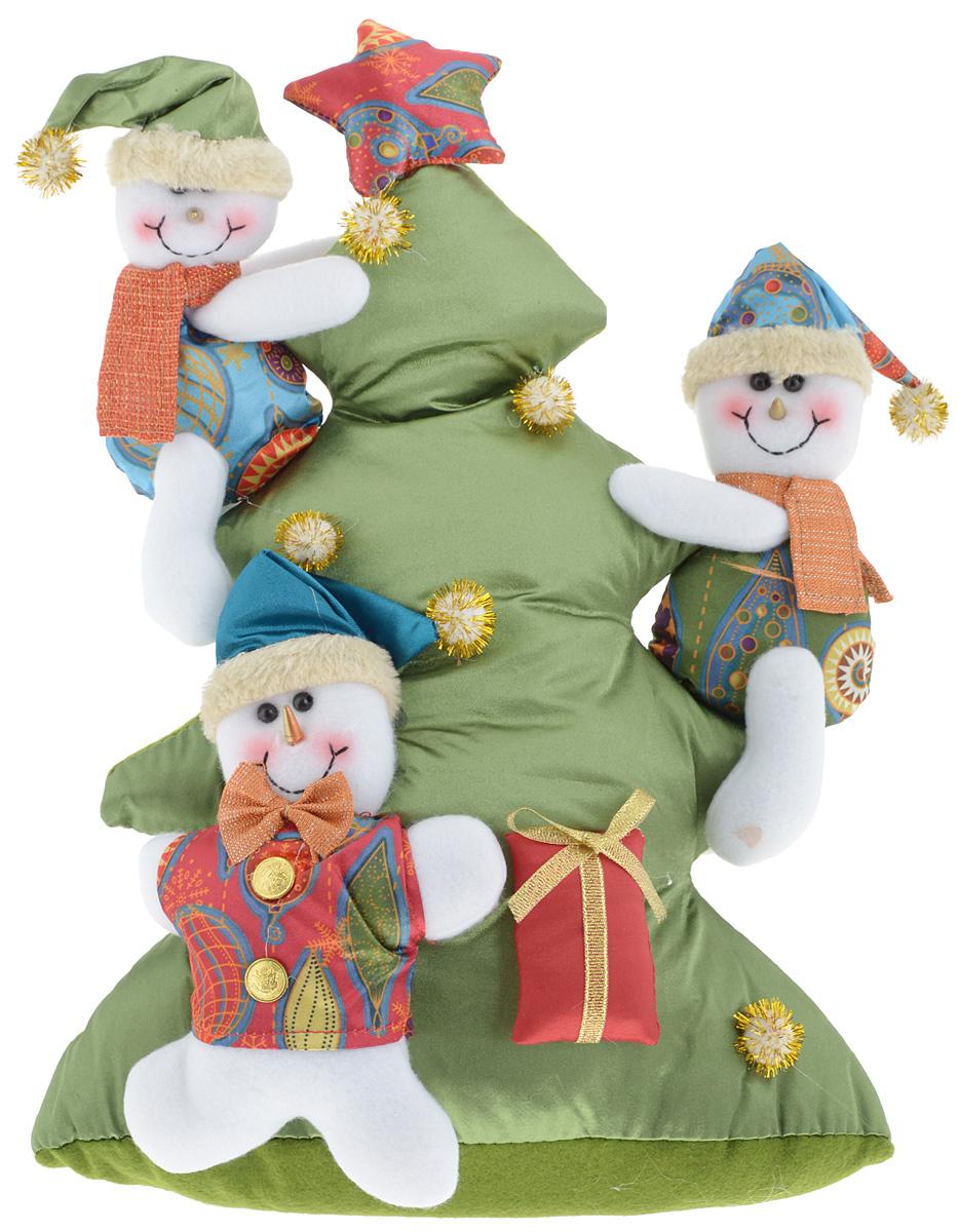 Украшение новогоднее декоративное Win Max Веселый праздник. Снеговик, высота 34 смBD 60-401Украшение новогоднее декоративное Win Max Веселый праздник. Снеговик прекрасно подойдет для праздничного декора вашего дома. Изделие выполнено из текстиля с наполнителем из синтепона в виде снеговиков, карабкающихся на елку. Для утяжеления и повышения устойчивости игрушки служит гранулят из полимера. Новогодние украшения несут в себе волшебство и красоту праздника. Они помогут вам украсить дом к предстоящим праздникам и оживить интерьер. Создайте в доме атмосферу тепла, веселья и радости, украшая его всей семьей.Кроме того, такая игрушка станет приятным подарком, который надолго сохранит память этого волшебного времени года.