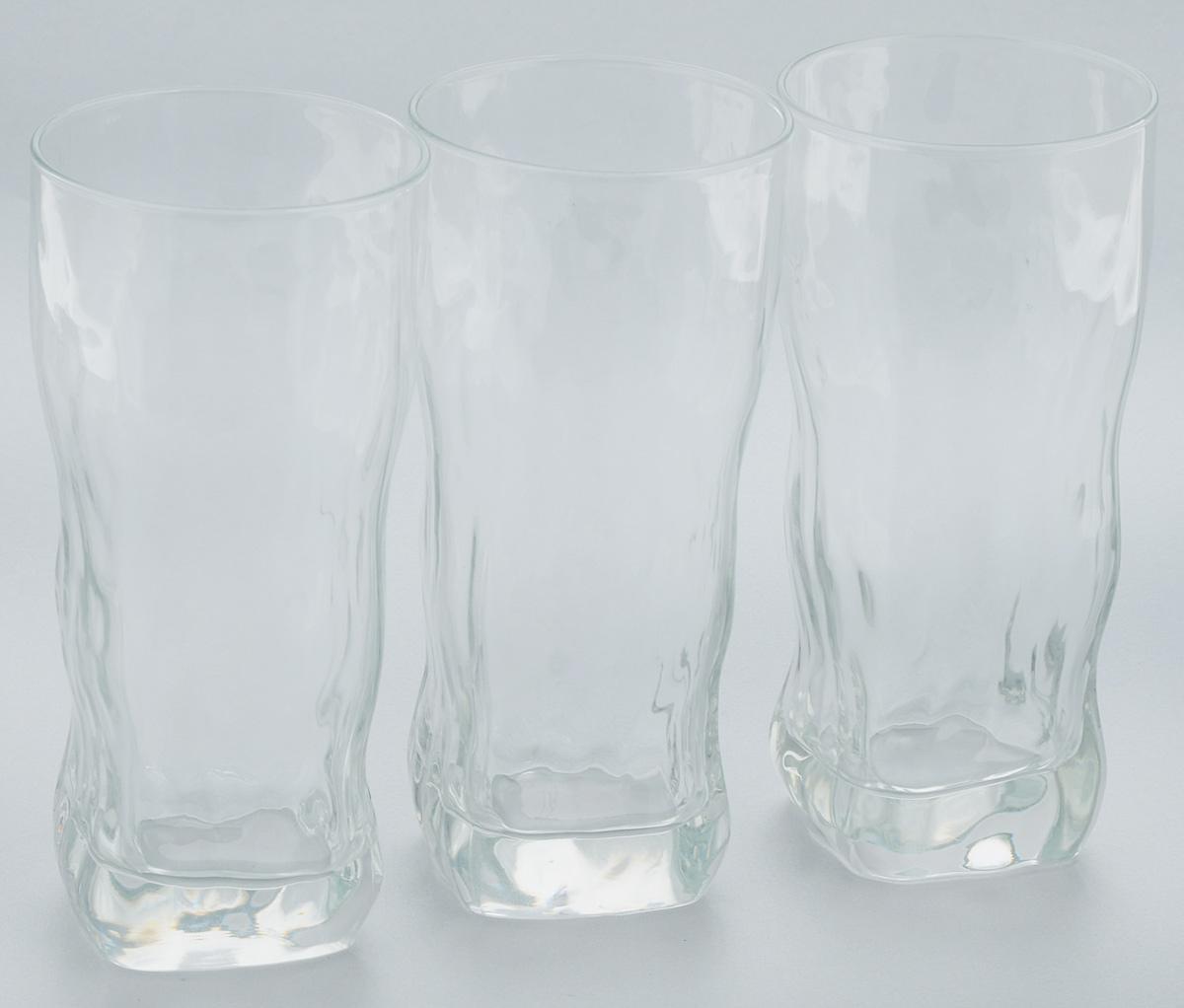 Набор стаканов Luminarc Icy, 400 мл, 3 штVT-1520(SR)Набор Luminarc Icy состоит из 3 стаканов, выполненных из стекла. Они отличаются особой легкостью и прочностью, излучают приятный блеск и издают мелодичный хрустальный звон. Стаканы станут идеальным украшением праздничного стола и отличным подарком к любому празднику.Можно мыть в посудомоечной машине.Диаметр стакана по верхнему краю: 7 см.Высота: 15,5 см.