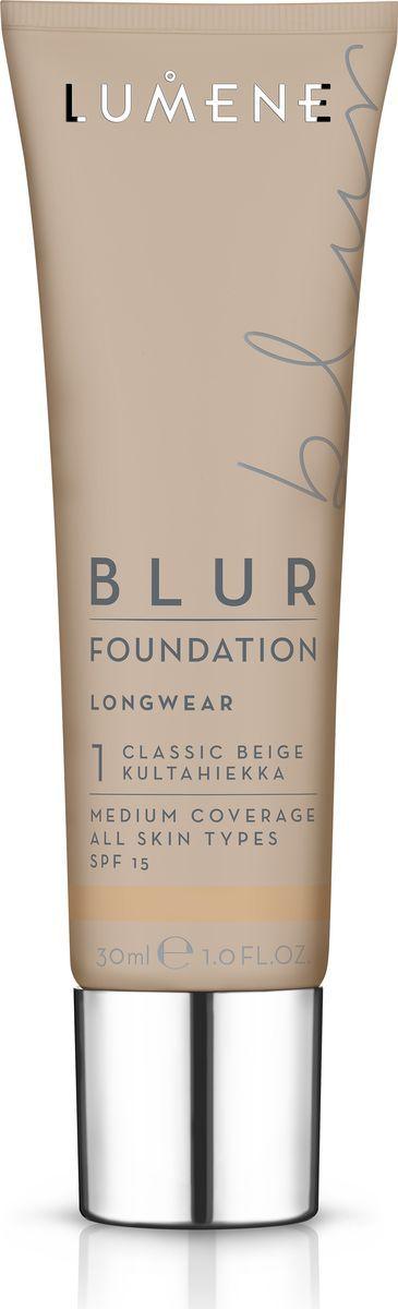 Lumene Blur SPF 15 Преображающий тональный крем № 1, 30 млNL290-82572Идеальное сочетание теплых цветовых пигментов и светоотражающих частиц в составе придают естественное сияние и визуально разглаживают кожу. Обладает стойким эффектом и защитой от UV- лучей, придает коже натуральный оттенок. Подходит для всех типов кожи. Оттенок Классический бежевый.