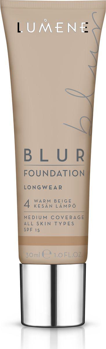 Lumene Blur SPF 15 Преображающий тональный крем № 4, 30 млNL290-82576Идеальное сочетание теплых цветовых пигментов и светоотражающих частиц в составе придают естественное сияние и визуально разглаживают кожу. Обладает стойким эффектом и защитой от UV- лучей, придает коже натуральный оттенок. Подходит для всех типов кожи. Оттенок Теплый бежевый.