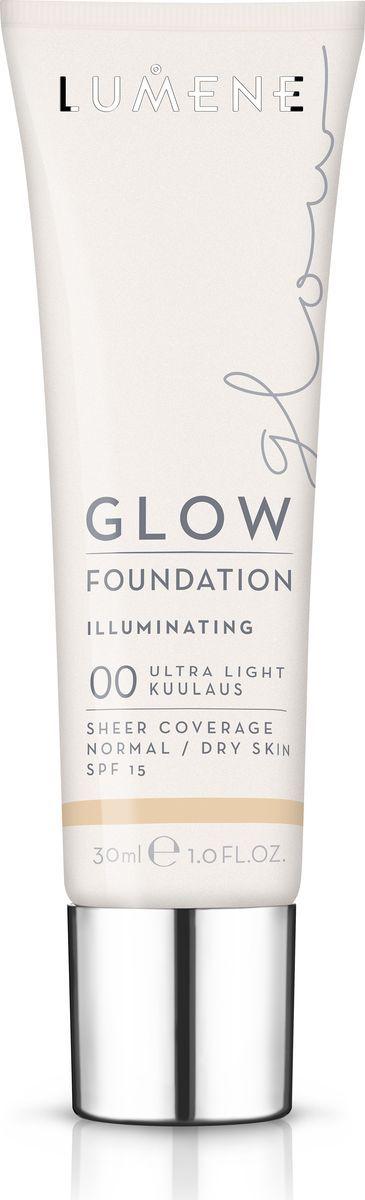 Lumene Glow SPF 15 Придающий сияние тональный крем № 00, 30 млNL290-82771Увлажняющая тональная основа с легким покрытием выравнивает тон кожи и придает естественное сияние. Обладает защитой от UV-лучей. Придает коже естесственное сияние. Подходит для сухой и нормальной кожи. Оттенок 00.