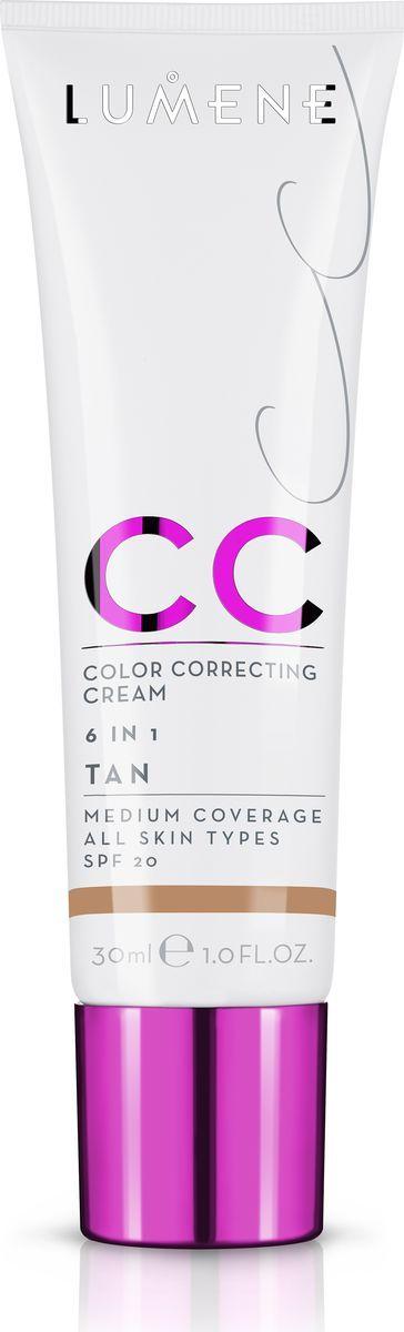Lumene Тональное средство CC-крем SPF 20 Темный, 30 млNL290-82824Невесомое, но при этом стойкое тонирующее средство CC-крем Абсолютное совершенство для безупречного покрытия. Подстраивается под естественный оттенок кожи. Может использоваться самостоятельно или как база под макияж. Обеспечивает уход за кожей и защиту. Подходит для всех типов кожи. Оттенок Темный.