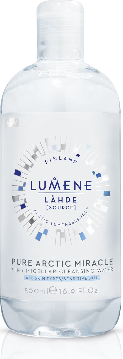 Lumene Lahde Мицеллярная вода 3 в 1, 500 млFS-00897Бережно удаляет макияж и загрязнения, увлажняет кожу. Придает сияние при постоянном использовании. Не нужно смывать или наносить тоник после использования. Подходит для чувствительной кожи. Без отдушек.