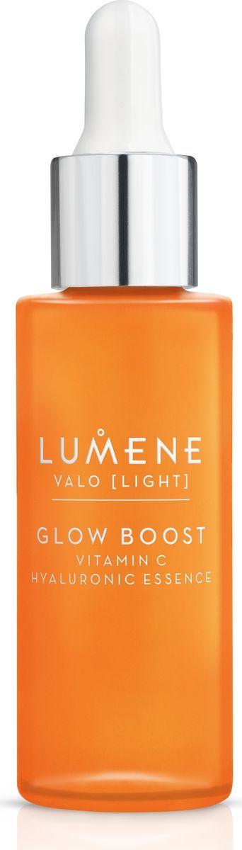 Lumene Valo Придающая сияние гиалуроновая эссенция Vitamin C, 30 млFS-00897Концентрированная формула для глубоко увлажненной, более сияющей кожи. В ее основе лежит уникальная технология сияния*, включающая арктическую морошку, богатую антиоксидантами, и Витамин С, а также чистейшую арктическую родниковую воду и 2 типа гиалуроновой кислоты. Формула способствует естественной выработке коллагена для более ровной, сияющей кожи. Мгновенно повышает уровень увлажнения кожи на +109 %.