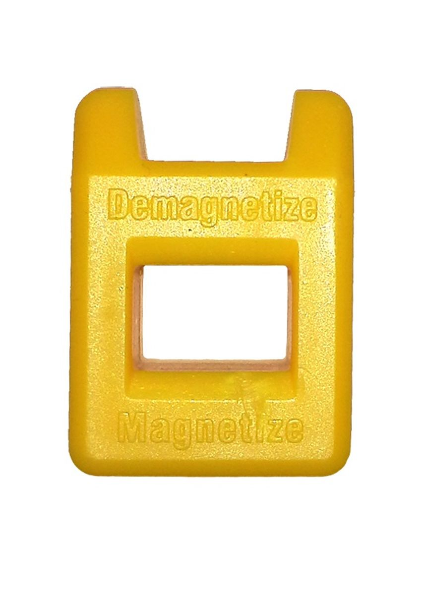 Устройство для намагничивания и размагничивания инструмента Berger 2 в 1. BG103366258Магнит для намагничевания и размагничевания отверток Berger 2 в 1 отличается исключительной простотой применения. Это небольшое приспособление способно в считанные секунды запустить процесс, в ходе которого различные стальные изделия: отвертки, пинцеты, и другие подобные инструменты, - становятся либо намагничены, либо размагничены. Обладает небольшими размерами и малым весом, что удобно при хранении и транспортировке.