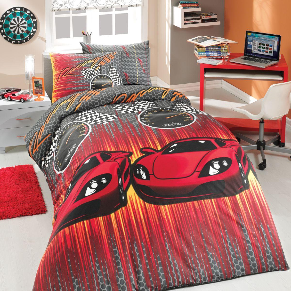 Комплект белья Hobby Home Collection Speed, 1,5-спальный, наволочки 50x70, 70x70, цвет: красный531-105Комплект постельного белья Hobby Home Collection Speed изготовлен из ранфорса и хлопка. Постельное белье имеет привлекающий внешний вид.Благодаря такому комплекту постельного белья вы сможете создать атмосферу уюта и комфорта в вашей спальне.