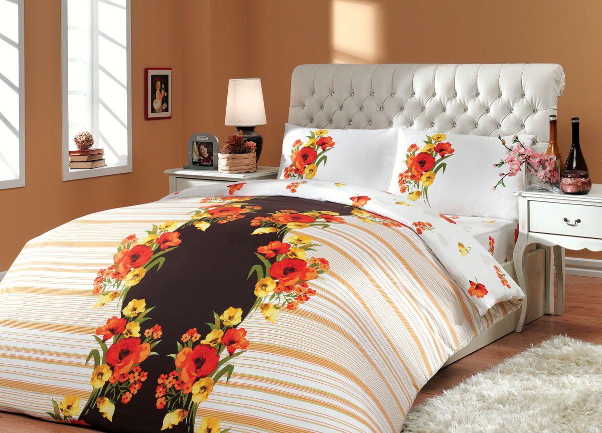 Комплект белья Hobby Home Collection Dream, 2-спальный, наволочки 70x70, цвет: коричневыйK100Комплект белья Hobby Home Collection состоит из простыни, пододеяльника и 4 наволочек. Белье выполнено из ранфорса - это ткань из 100% натурального хлопка, которая легко стирается, практичнее льна, подстраивается под температуру воздуха - зимой на таком белье тепло, летом - прохладно. Мягкость и нежность материала создает чувство комфорта и защищенности. У хлопка хорошая проводимость тепла, поэтому постельное белье из него может надолго оставаться свежим. Постельное белье с оригинальными дизайнами станет отличным выбором для людей, стремящихся всегда быть стильными.