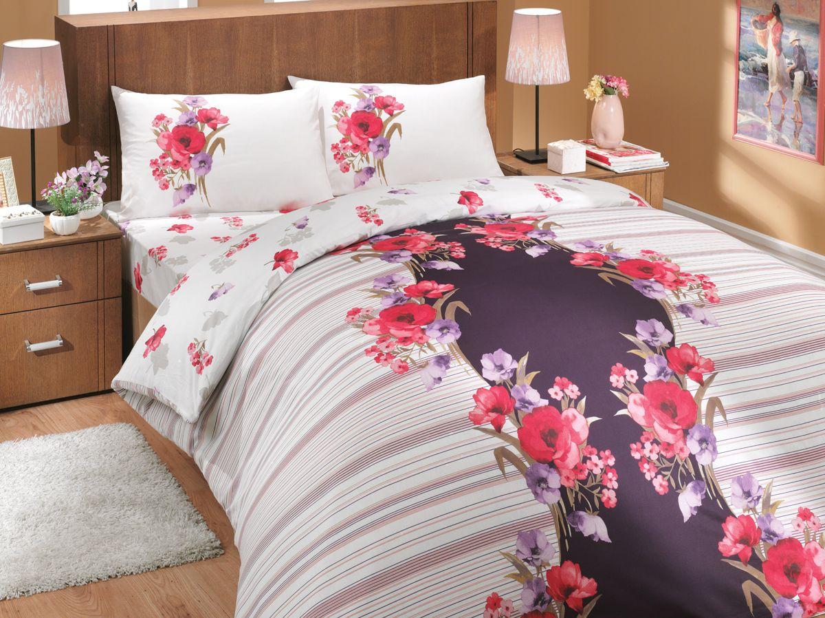 Комплект белья Hobby Home Collection Dream, 2-спальный, наволочки 70x70, цвет: лиловый391602Комплект белья Hobby Home Collection состоит из простыни, пододеяльника и 4 наволочек. Белье выполнено из ранфорса - это ткань из 100% натурального хлопка, которая легко стирается, практичнее льна, подстраивается под температуру воздуха - зимой на таком белье тепло, летом - прохладно. Мягкость и нежность материала создает чувство комфорта и защищенности. У хлопка хорошая проводимость тепла, поэтому постельное белье из него может надолго оставаться свежим. Постельное белье с оригинальными дизайнами станет отличным выбором для людей, стремящихся всегда быть стильными.