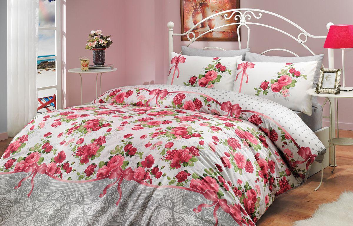 Комплект белья Hobby Home Collection Felicita, 2-спальный, наволочки 70x70, цвет: красный391602Комплект белья Hobby Home Collection состоит из простыни, пододеяльника и 4 наволочек. Белье выполнено из ранфорса - это ткань из 100% натурального хлопка, которая легко стирается, практичнее льна, подстраивается под температуру воздуха - зимой на таком белье тепло, летом - прохладно. Мягкость и нежность материала создает чувство комфорта и защищенности. У хлопка хорошая проводимость тепла, поэтому постельное белье из него может надолго оставаться свежим. Постельное белье с оригинальными дизайнами станет отличным выбором для людей, стремящихся всегда быть стильными.