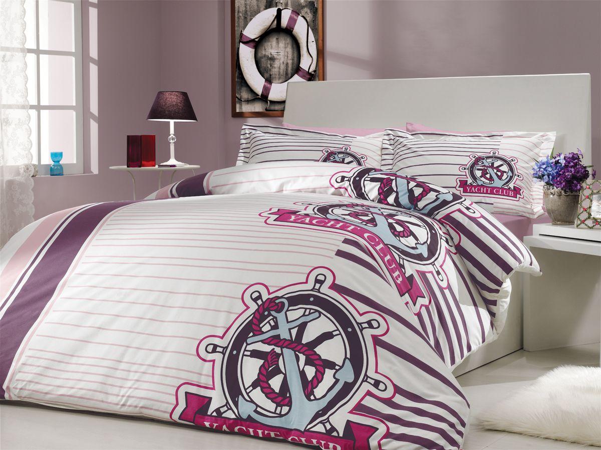 "Комплект белья Hobby Home Collection ""Saranda"", 2-спальный, наволочки 50х70, 70х70, цвет: лиловый"