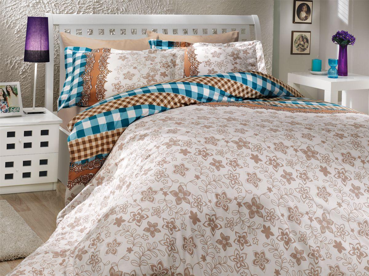 """Комплект белья Hobby Home Collection """"Serena"""", 2-спальный, наволочки 50х70, 70х70, цвет: синий"""
