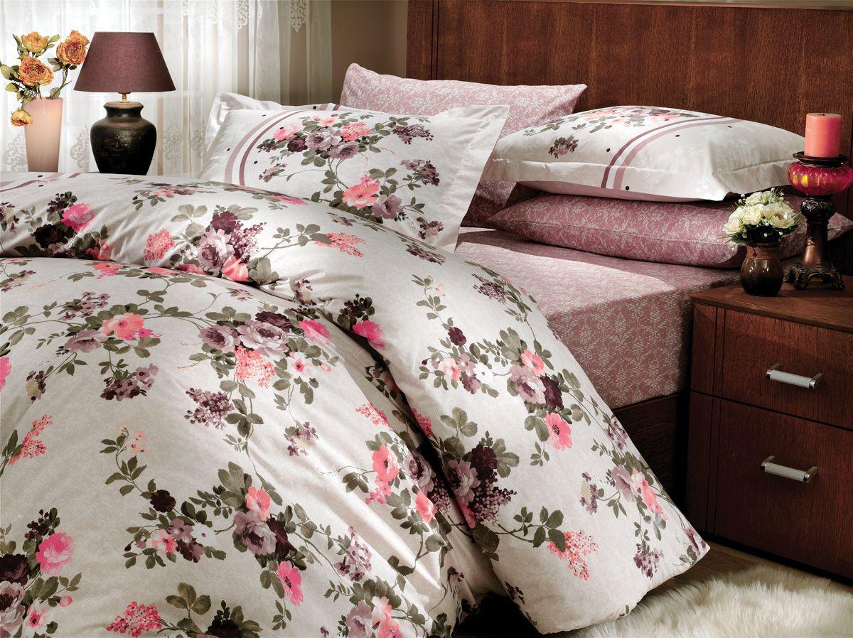 """Комплект белья Hobby Home Collection """"Susana"""", 2-спальный, наволочки 50х70, 70х70, цвет: коричневый"""