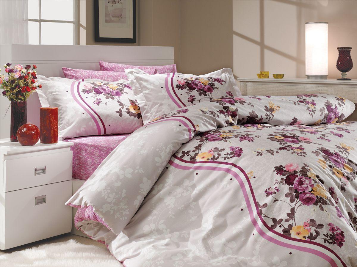 """Комплект белья Hobby Home Collection """"Susana"""", 2-спальный, наволочки 50х70, 70х70, цвет: лиловый"""